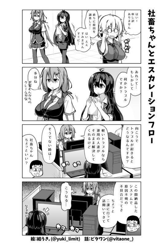 社畜ちゃん漫画 101話「社畜ちゃんとエスカレーションフロー」