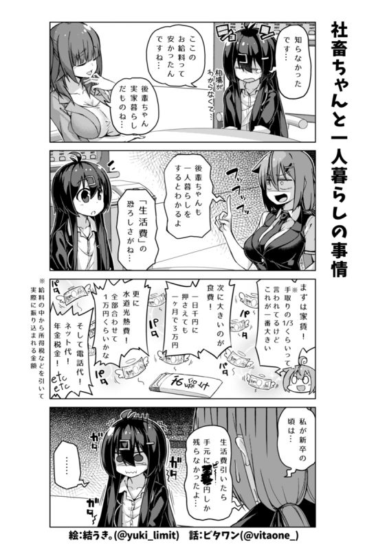 社畜ちゃん漫画 175話「社畜ちゃんと一人暮らしの事情」