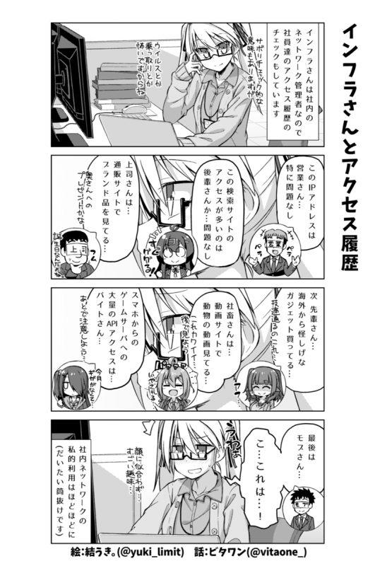 社畜ちゃん漫画 160話「インフラさんとアクセス履歴」