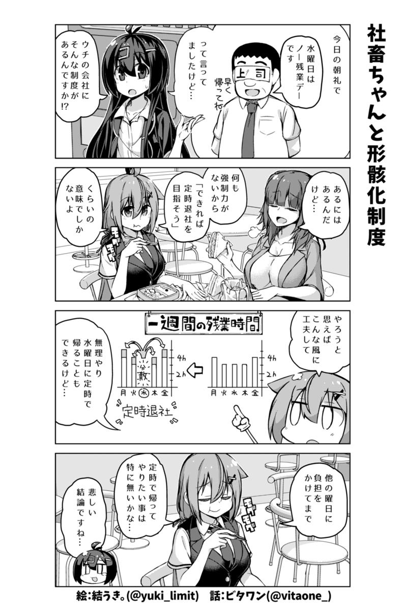 社畜ちゃん漫画 202話「社畜ちゃんと形骸化制度」