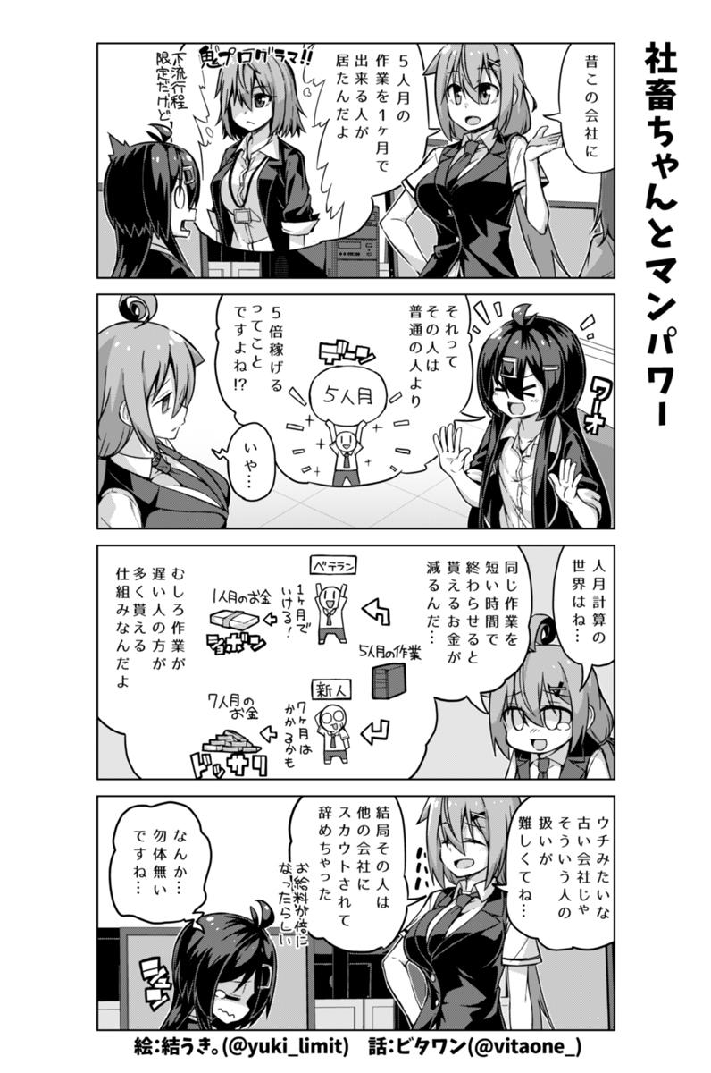 社畜ちゃん漫画 207話「社畜ちゃんとマンパワー」