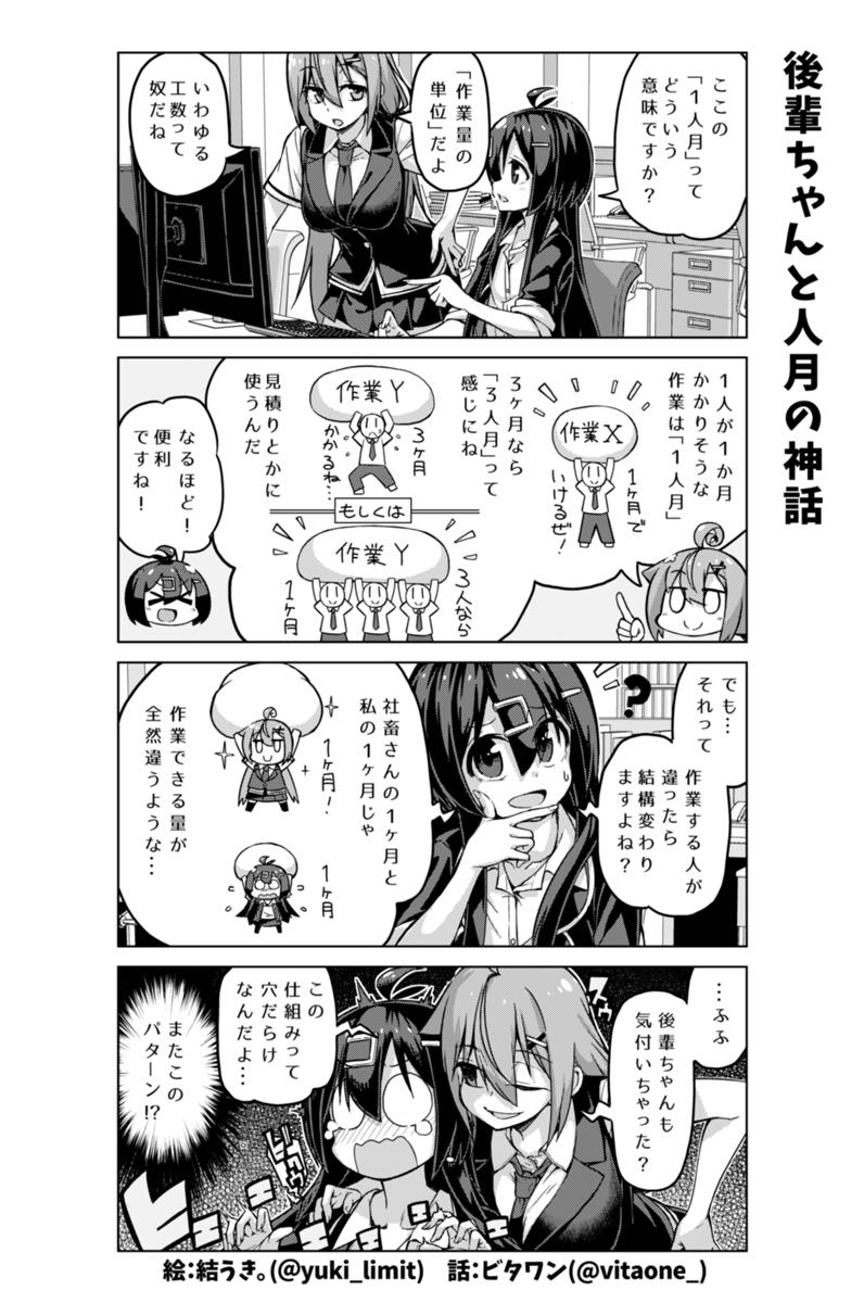 社畜ちゃん漫画 206話「後輩ちゃんと人月の神話」