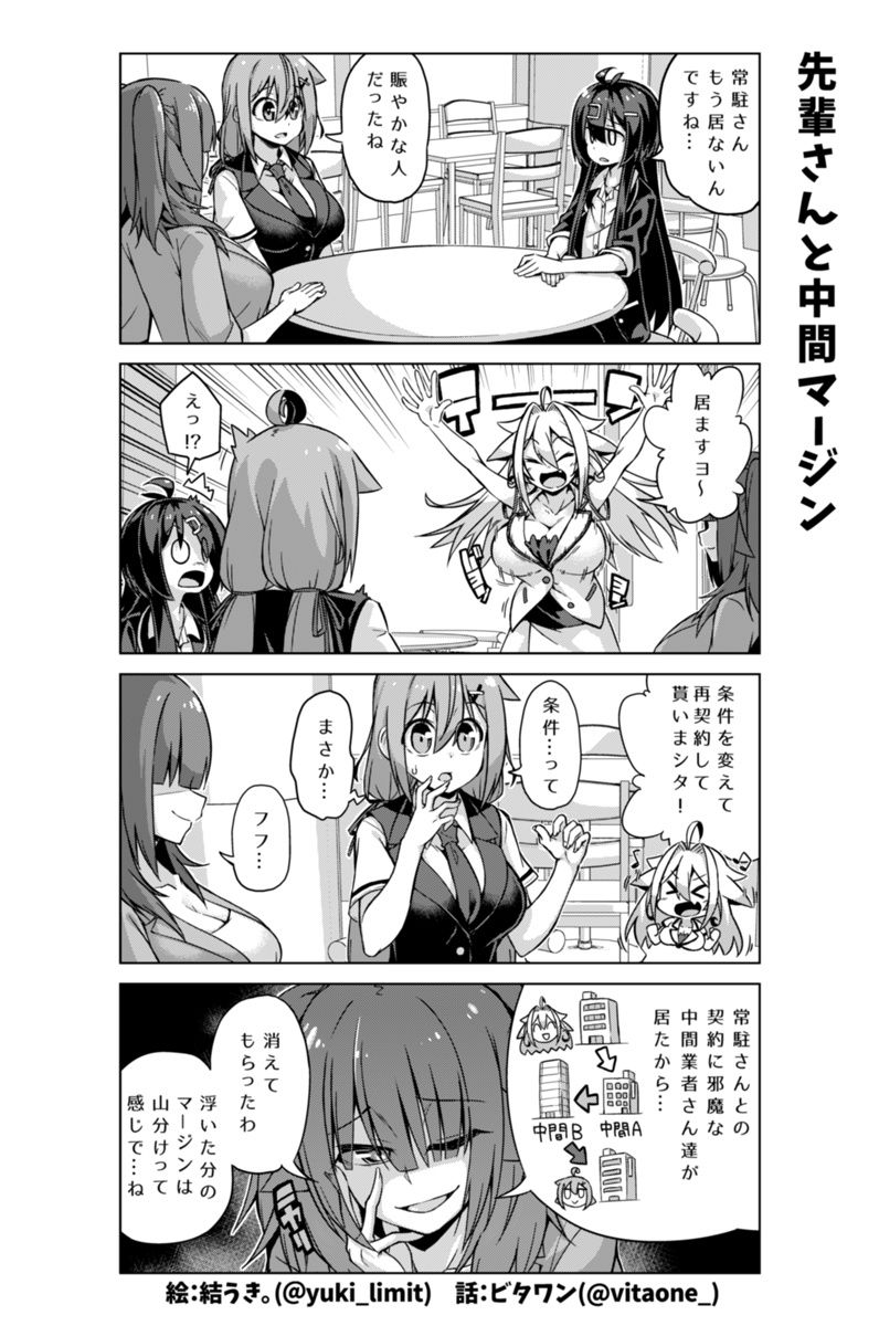 社畜ちゃん漫画 219話「先輩さんと中間マージン」