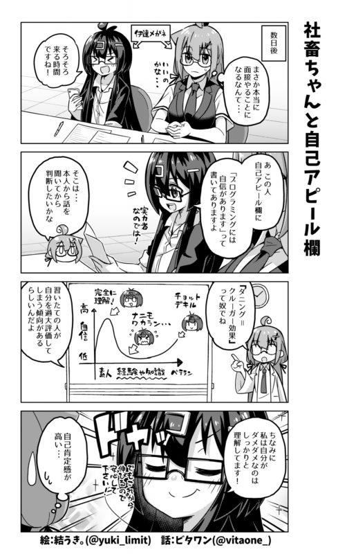 社畜ちゃん漫画 396話「社畜ちゃんと自己アピール欄」