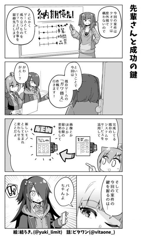 社畜ちゃん漫画 413話「先輩さんと成功の鍵」
